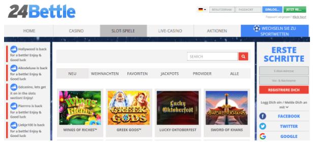 24 Bettle: Holen Sie sich Prämiengutscheine für die führenden Online-Casinos